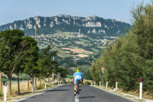 Road bicycle racer in San Marino