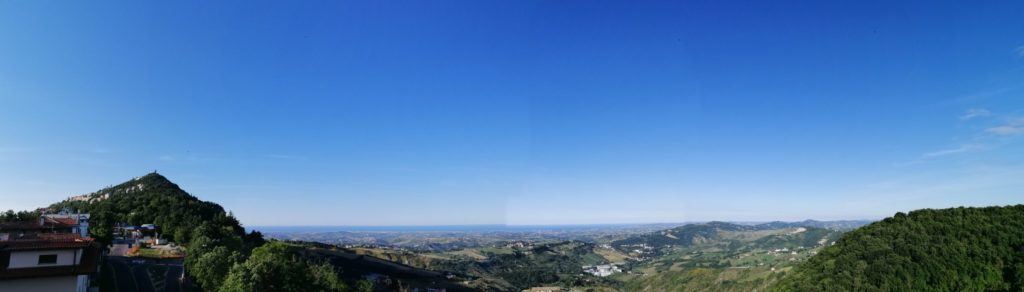 Vue de la terrasse Hotel San Marino Idesign