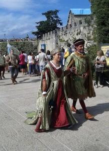 Dama durante le Giornate Medievali