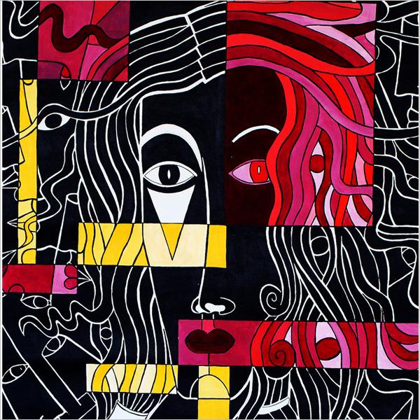 dipinto Rossano Ferrari maschera